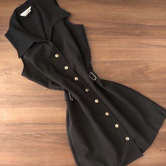 Vintage 90's Collared Mini Vest Dress